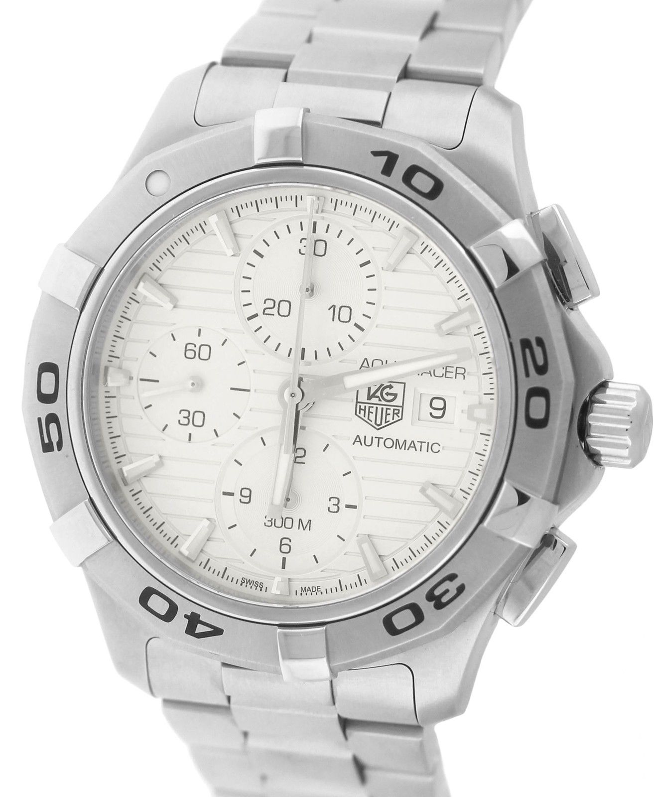 """Image of """"Tag Heuer Aquaracer Cap2111.ba0833 Stainless Steel 42mm Mens Watch"""""""