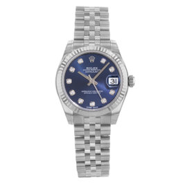 Rolex Datejust 178274 Stainless Steel Blue Dial Automatic 31mm Womens Watch