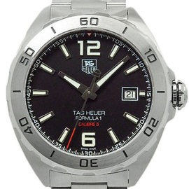 Tag Heuer Formula 1 Calibre 5 WAZ2113.BA0875 Stainless Steel Black Dial Automatic 41mm Mens Watch