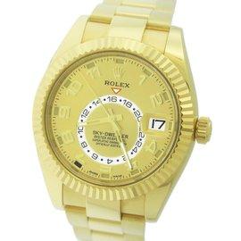 Rolex Sky-Dweller 326938 18K Yellow Gold Champagne Arabic 42mm Mens Watch 2015