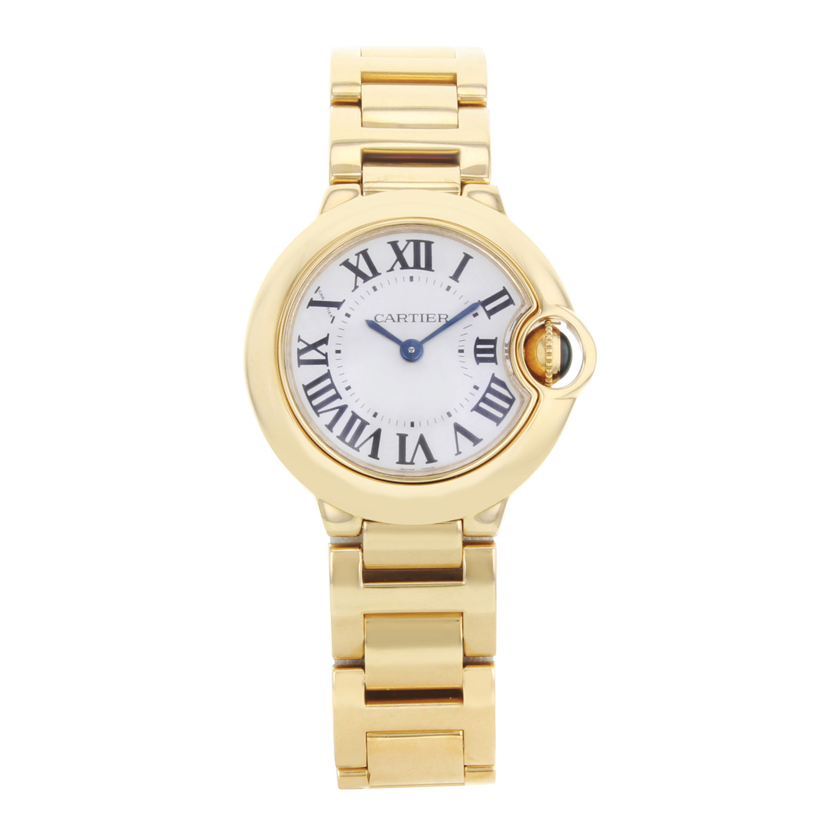 Cartier Ballon Bleu W69001Z2 18K Yellow Gold 28mm Womens Watch