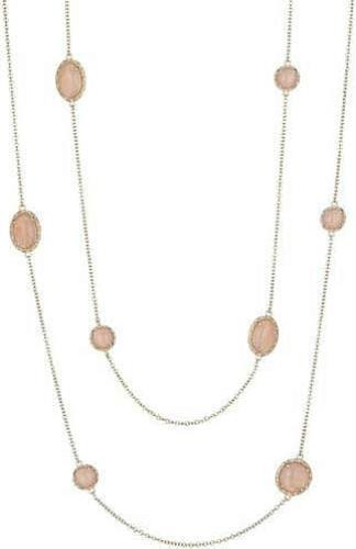 "Image of ""Tacori 18K Rose Gold with Peach Moonstone Necklace"""