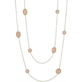 Tacori 18K Rose Gold with Peach Moonstone Necklace