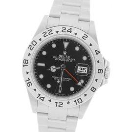 Rolex Explorer II 16570 Stainless Steel Black Date GMT 40mm Mens Watch