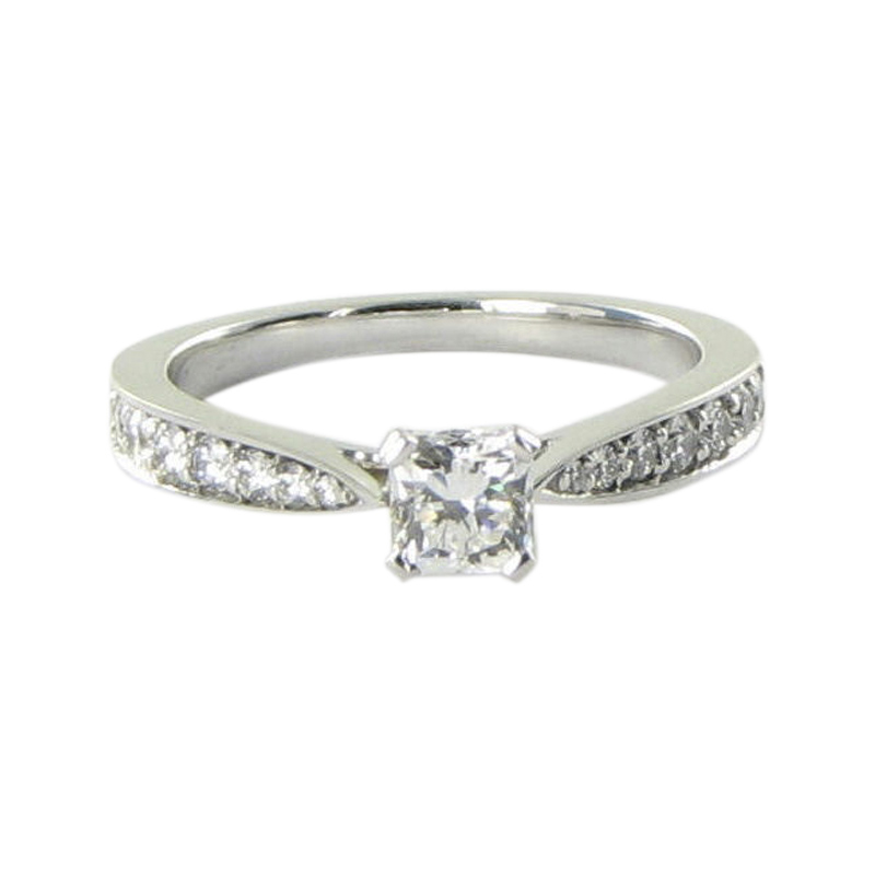 "Image of ""Hearts On Fire 18K White Gold 0.79ct Diamond Ring Size 6.5"""
