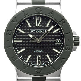 Bulgari Diagono DG 35 SV / DG35BSVD Stainless Steel & Rubber Automatic 35mm Mens Watch