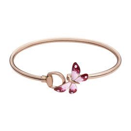 Gucci Flora 18K Rose Gold & Enamel Bracelet