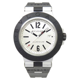 Bulgari Diagono AL44TA Aluminum & Rubber Silver Dial Automatic 43mm Mens Watch
