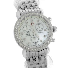 Michele CSX-36 Day Diamond MW03M01A1046 Stainless Steel Mother of Pearl Dial 36.00mm Womens Watch