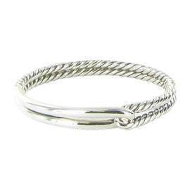 David Yurman Labyrinth 925 Sterling Silver Single Loop Bracelet
