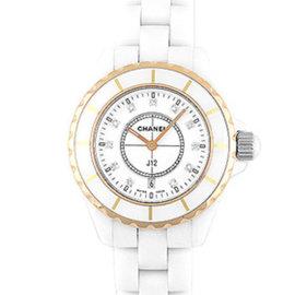 Chanel J12 H2181 Stainless Steel/Ceramic & Pink Gold Quartz 33mm Womens Watch