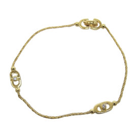 Christian Dior Yellow Gold Diamond Womens Bracelet