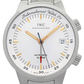 IWC GST Alarm IW353703 / 3537-003 Stainless Steel Silver Dial Auto 40mm Mens Watch