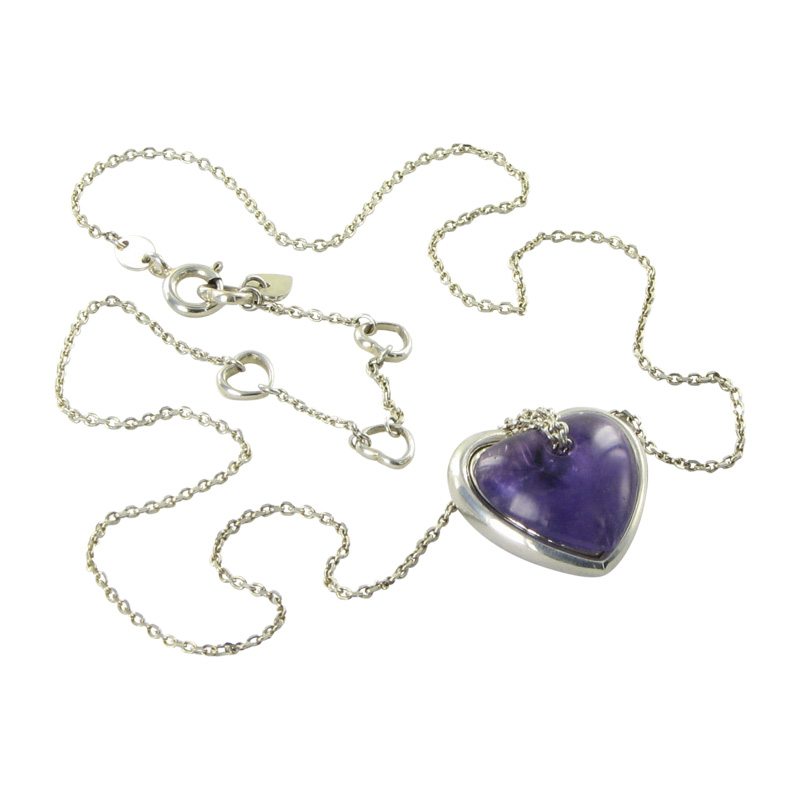 "Image of ""Links of London 925 Sterling Silver & Amethyst Love Note Necklace"""