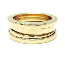 Bulgari B.Zero1 18K Yellow Gold Three Band Ring Size 4