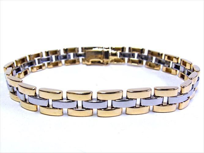 """Image of """"Cartier 18K Yellow Gold & Stainless Steel Panthere Bracelet"""""""