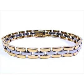 Cartier 18K Yellow Gold & Stainless Steel Panthere Bracelet
