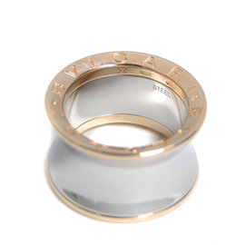 Bulgari B.Zero1 18K Rose Gold & Stainless Steel Anish Kapoor Ring Size 5.75