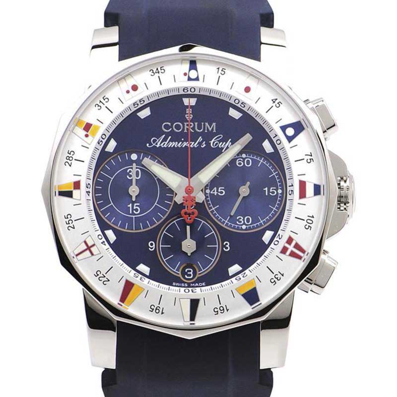 "Image of ""Corum Admirals Cup A 985/03503 Stainless Steel & Rubber Automatic 44mm"""