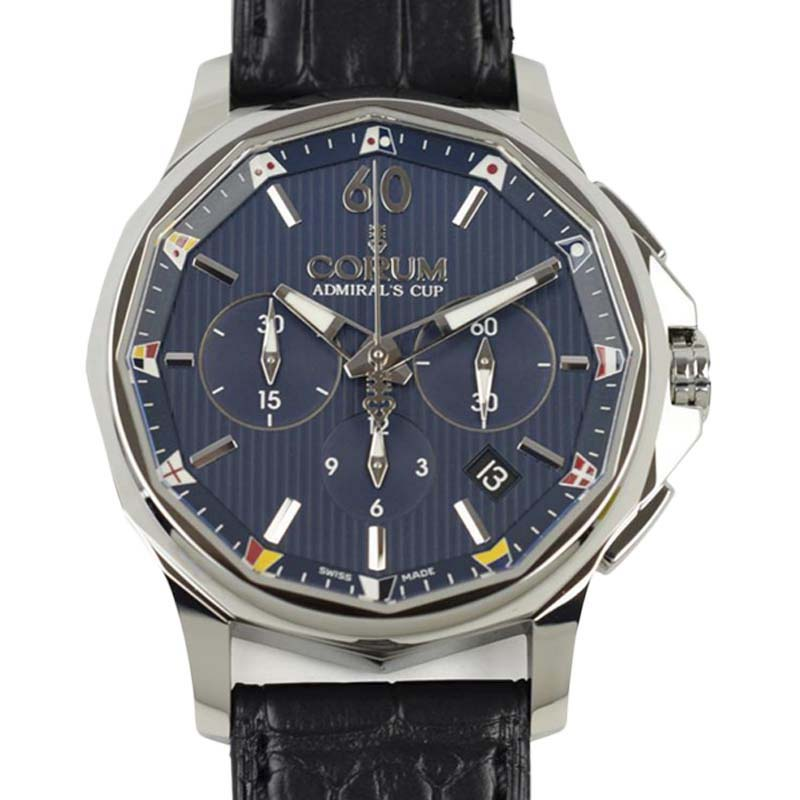 "Image of ""Corum Admirals Cup A 984/02629 Stainless Steel & Leather Automatic"""