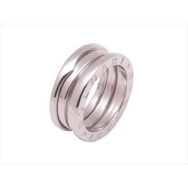 Bulgari B.Zero1 18K White Gold Three Band Ring Size 4.5