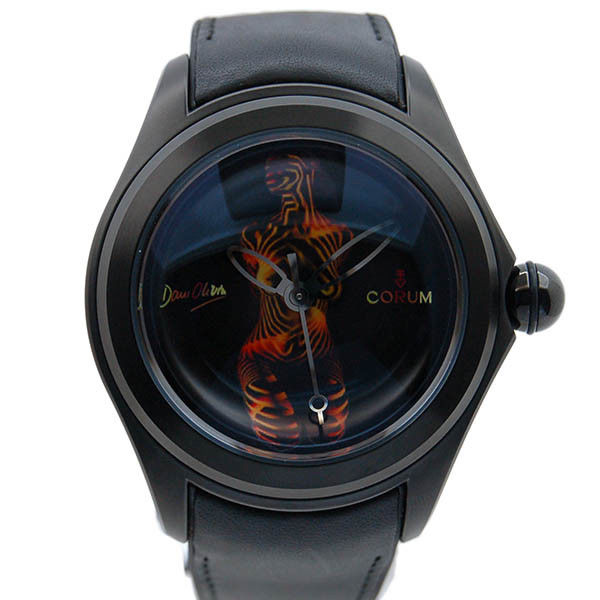 """Image of """"Corum Dani Olivier Stainless Steel & Leather Automatic 47mm Mens Watch"""""""