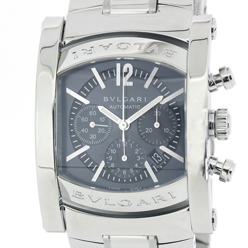 "Image of ""Bulgari Assioma Chrono Aa44Sch Stainless Steel Gray Dial Auto 35mm"""