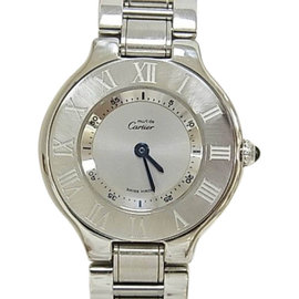 Cartier Must 21 W10109T2 Stainless Steel Silver Dial Quartz 28mm Womens Watch
