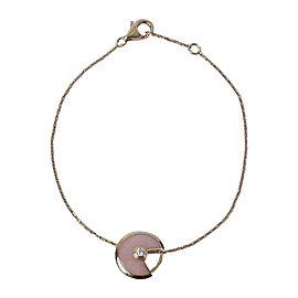 Cartier Amulette De Cartier 18k Rose Gold 0.02ct. Diamond and Pink Opal Bracelet