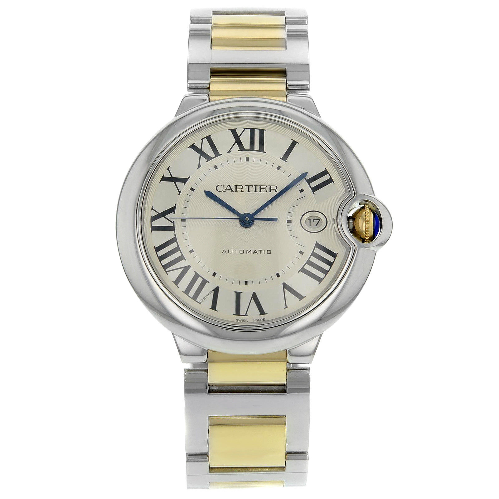 Cartier Ballon Bleu W69009Z3 Stainless Steel & Yellow Gold Automatic
