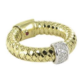 Roberto Coin 18K Yellow Gold Primavera 0.10ct Diamond Ring Size 6.5