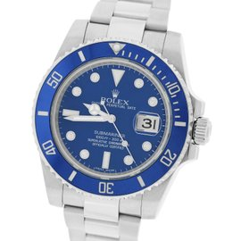 Rolex Submariner 116619 18K White Gold Blue Diamond Dial 40.00mm Mens Watch