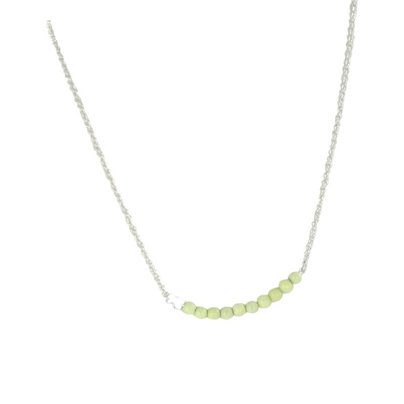 "Image of ""Tous 925 Sterling Silver & Lemon Jasper Necklace"""