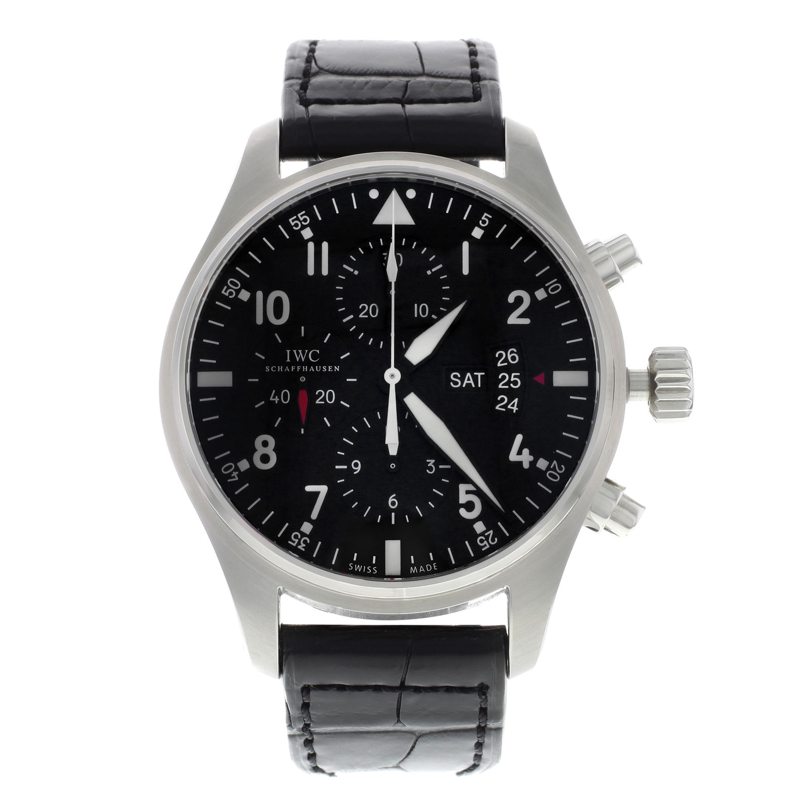 """Image of """"IWC Pilots Iw377701 Stainless Steel Automatic 43mm Mens Watch"""""""