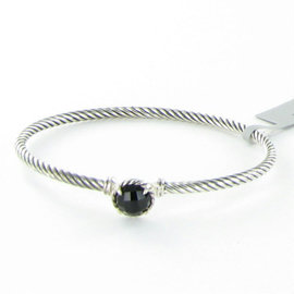 David Yurman Chatelaine Petite 925 Sterling Silver & Black Onyx Bracelet