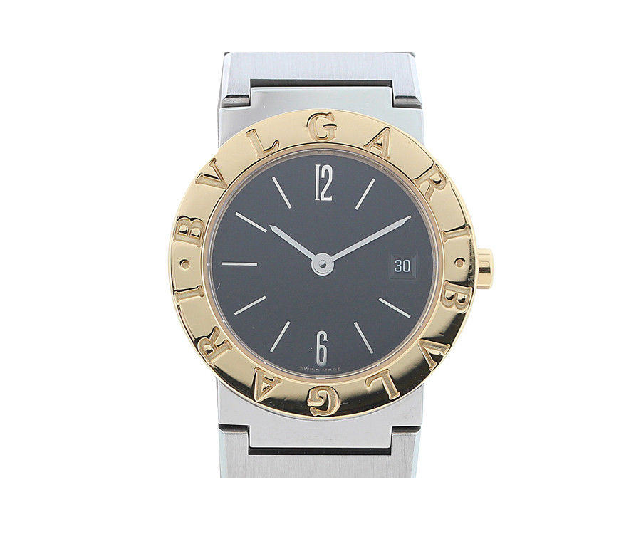 "Image of ""Bulgari Bvlgari Bb26Sgd Stainless Steel & 18k Yellow Gold Black Dial"""
