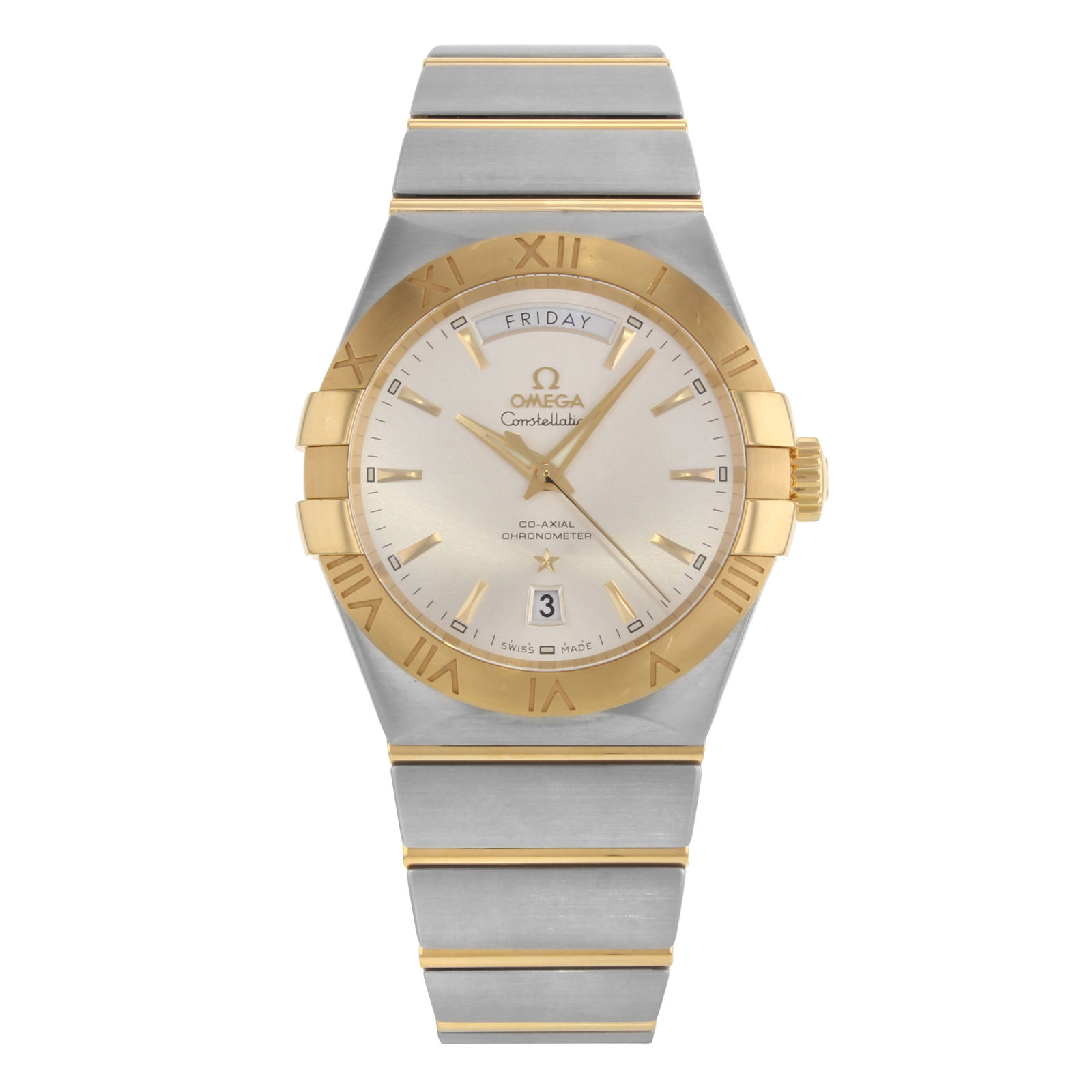 """Image of """"Omega Constellation 123.20.38.22.02.002 18K Yellow Gold and Stainless"""""""