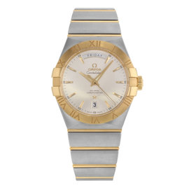 Omega Constellation 123.20.38.22.02.002 18K Yellow Gold and Stainless Steel Automatic 38mm Mens Watch