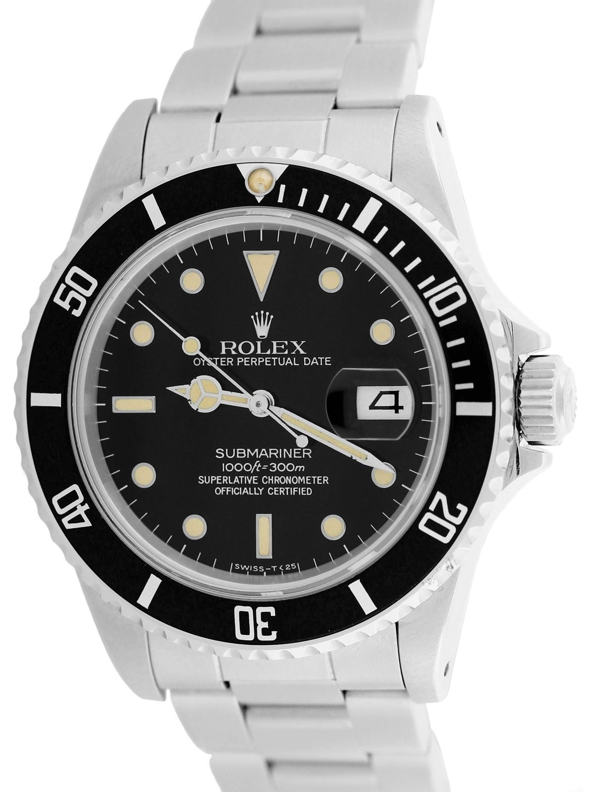 """Image of """"Rolex Submariner 16800 Stainless Steel Vintage 40mm Mens Watch"""""""
