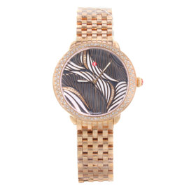 Michele Serein Willow MWW21B000091 0.52ct. Diamonds Rose Gold Tone Stainless Steel Quartz 36mm Womens Watch