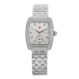 Michele Urban Mini MWW02A000508 Stainless Steel and 0.74ct Diamonds Quartz 29mm Womens Watch