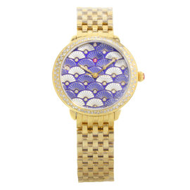Michele Serein MWW21B000102 Gold Tone & 0.59ct Diamond Quartz 36mm Womens Watch