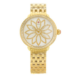 Michele Serein MWW21A000056 Gold Tone Stainless Steel Quartz 40mm Womens Watch