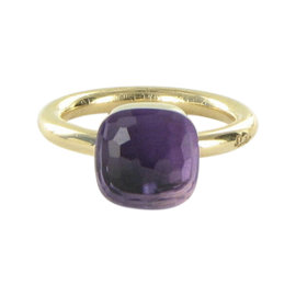 Pomellato Nudo 18K Rose Gold with Amethyst Ring Size 7