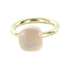 Pomellato Nudo 18K Rose Gold with Quartz Ring Size 6.5