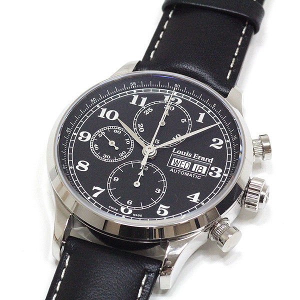 "Image of ""Louis Erard Chronograph Le78225Aa22Bva02 Stainless Steel and Leather"""