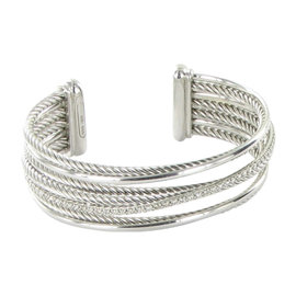 David Yurman Crossover 925 Sterling Silver with 0.75ct Diamond Bracelet