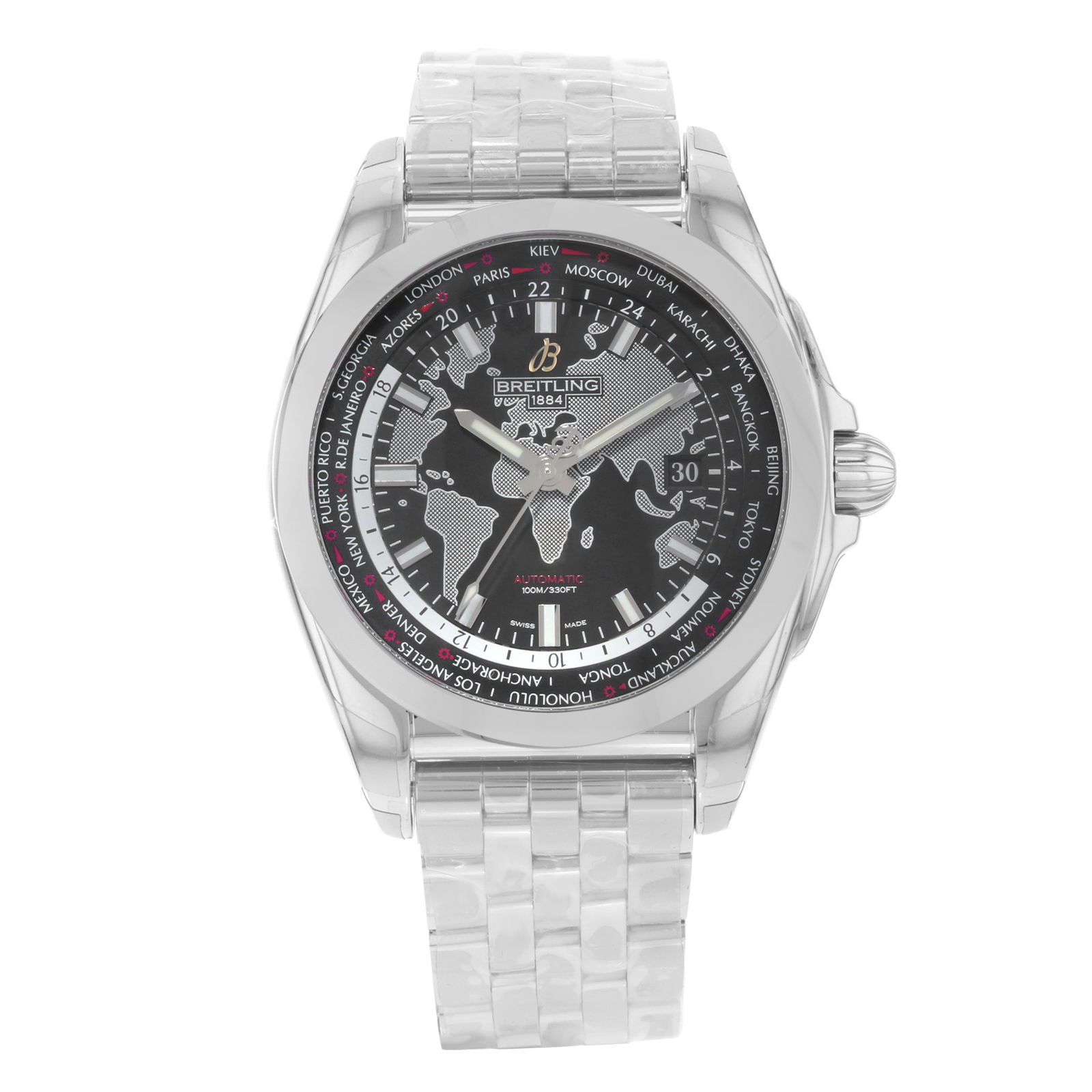 "Image of ""Breitling Galactic Unitime Wb3510U4/bd94-375A Stainless Steel 42.5mm"""