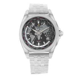 Breitling Galactic Unitime WB3510U4/BD94-375A Stainless Steel 42.5mm Mens Watch