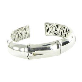 John Hardy Bamboo 925 Sterling Silver Bangle Bracelet